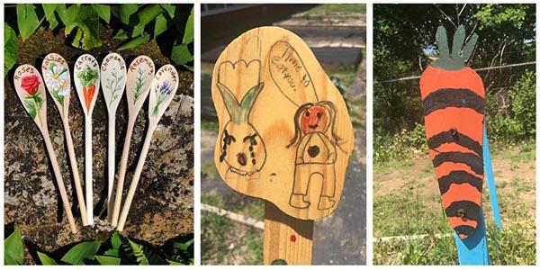schoolyard garden markers