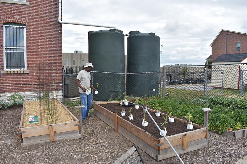 Water Tanks at Paseo West Community Garden