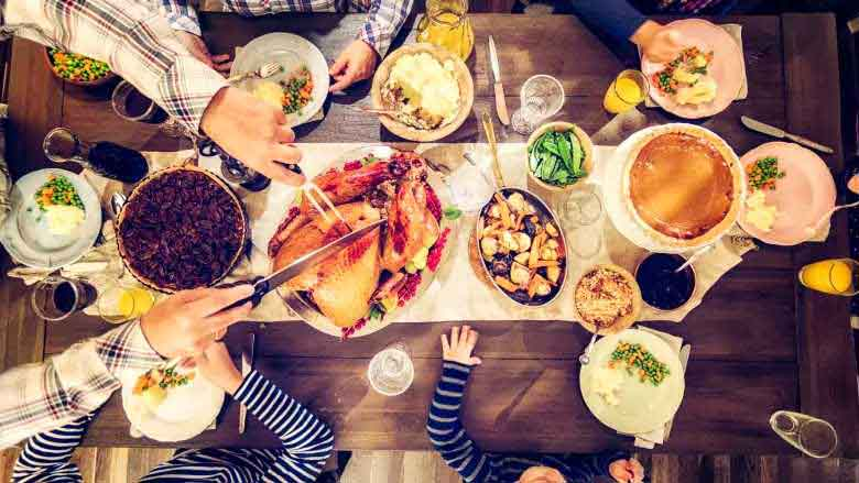 0 thanksgiving table