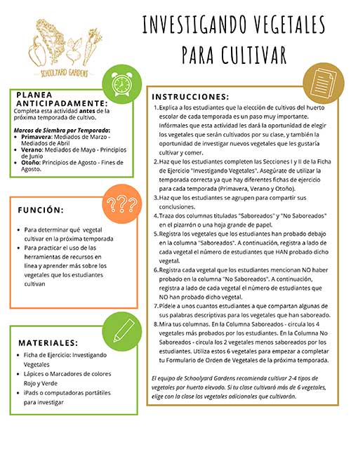 SPANISH VERSION_Researching Vegetables to Grow