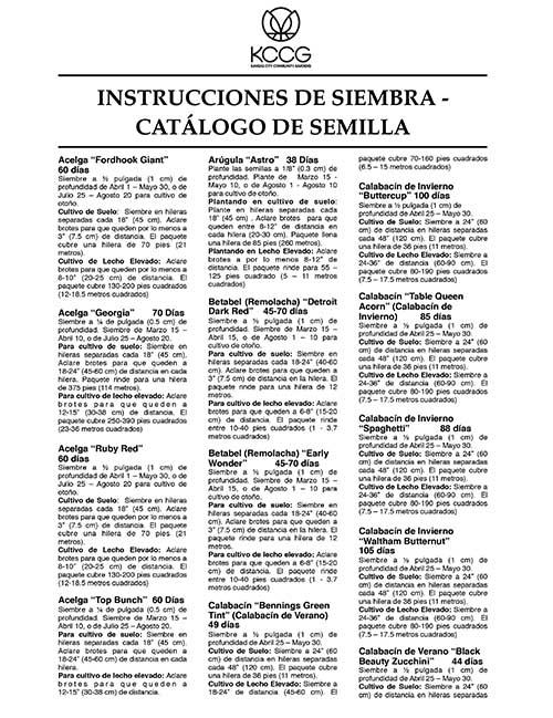 INSTRUCCIONES DE SIEMBRA -CATÁLOGO DE SEMILLA-1