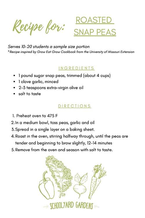 Roasted Snap Peas Recipe Card